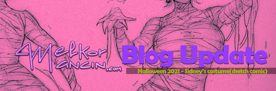 Halloween 2021 - Sidney's costume(sketch comic)